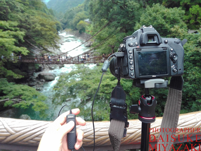かずら橋を三脚で撮る