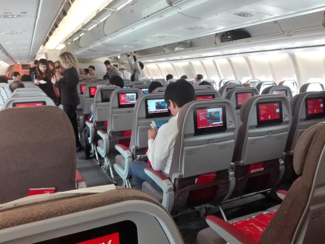 イベリア航空の機内の写真
