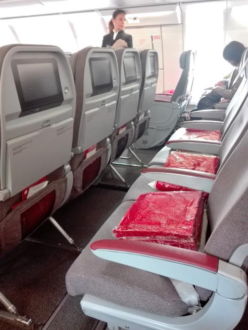 イベリア航空の飛行機の座席の写真