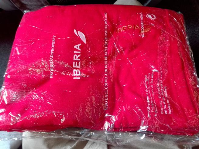 イベリア航空の毛布