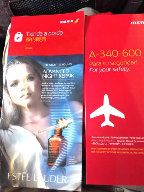 イベリア航空の機内販売