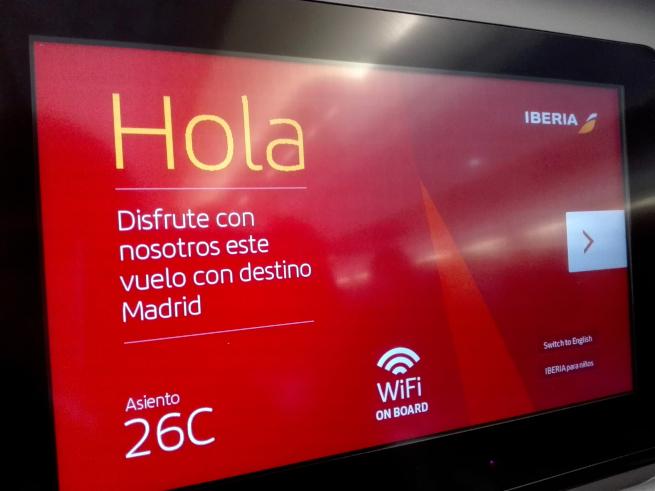 イベリア航空はスペイン語表記