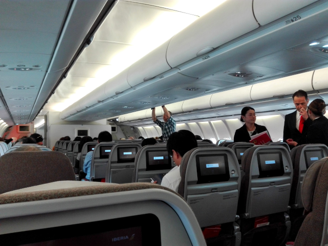 イベリア航空の機内の様子