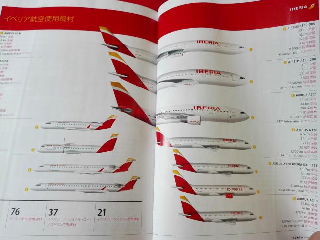 イベリア航空の機体