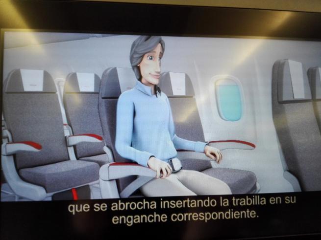 イベリア航空の安全放送