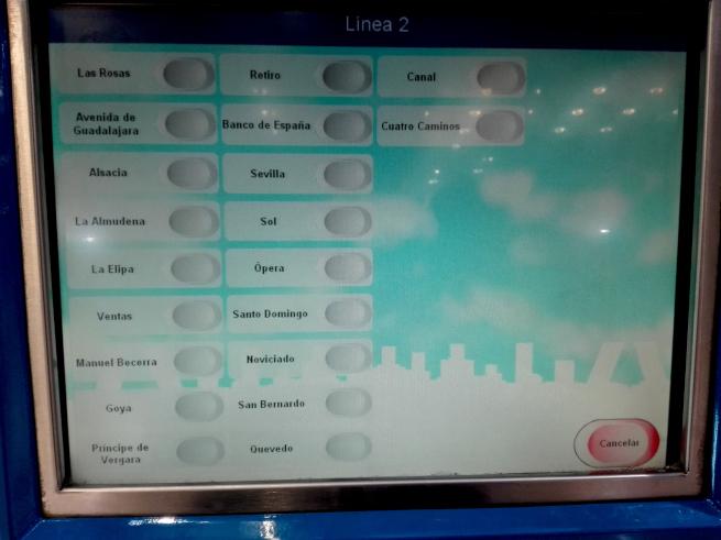 マドリードの地下鉄チケットの買い方