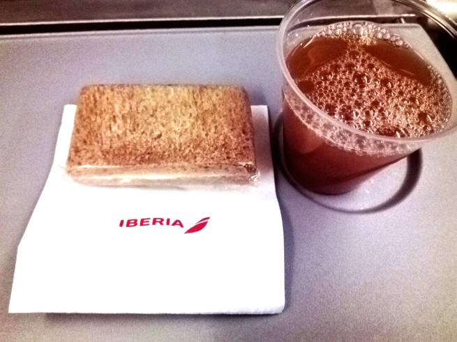 イベリア航空の機内おやつ