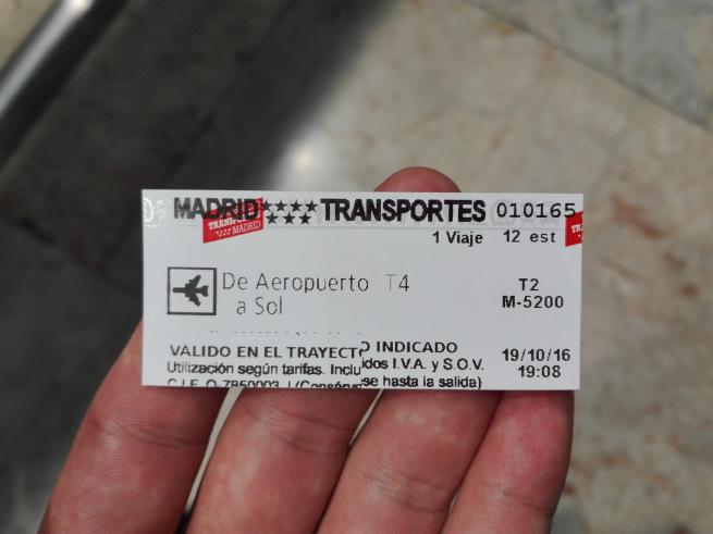 地下鉄のチケット