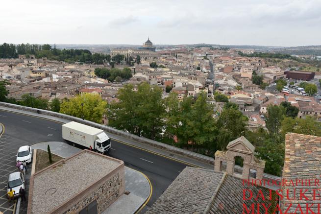トレドの城壁の上からの眺め