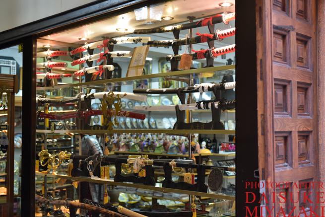 トレドに売っている日本刀