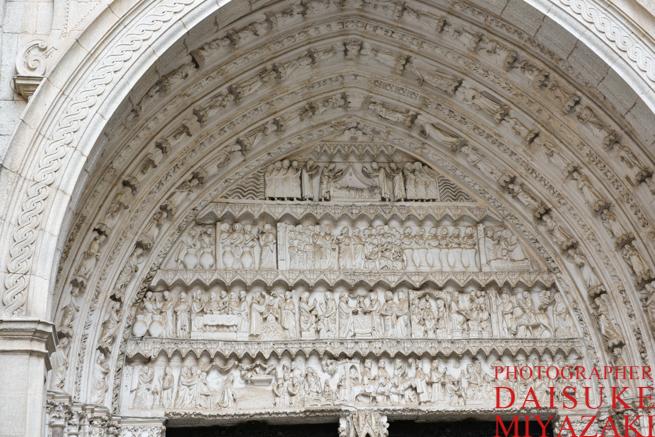 トレドの教会の彫刻
