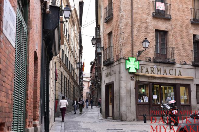 スペインの町並み