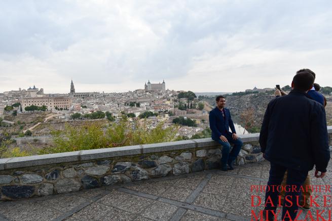 記念撮影する観光客