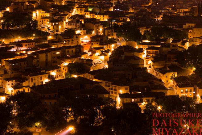 トレドの街の夜景