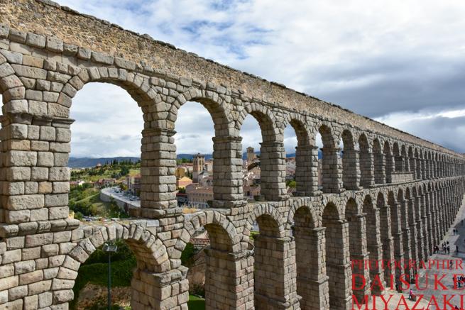 水道橋を上から撮影
