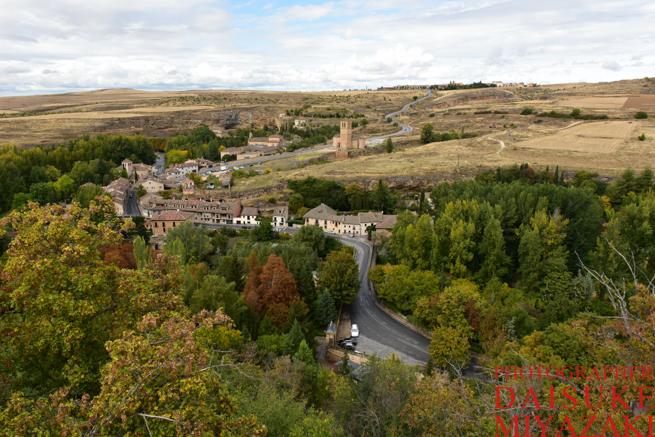 セゴビア城の手前からの眺め