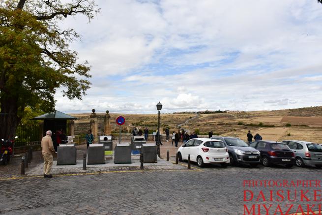 セゴビア城の手前の展望台