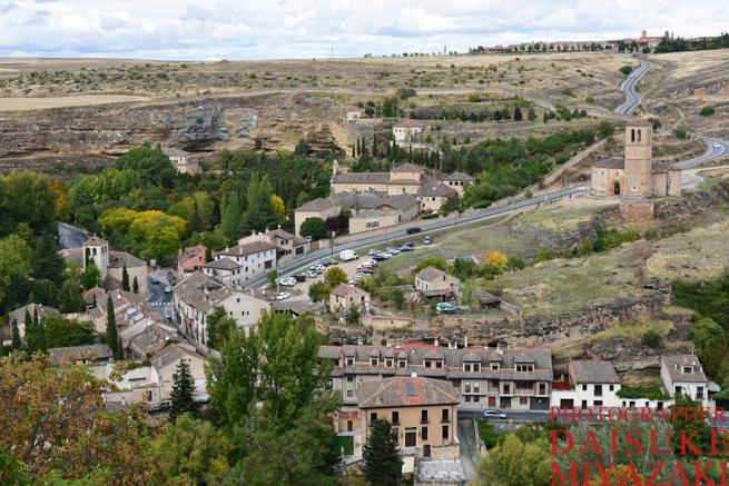 セゴビア城の下の風景