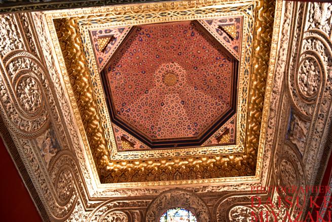 セゴビアの城の天井