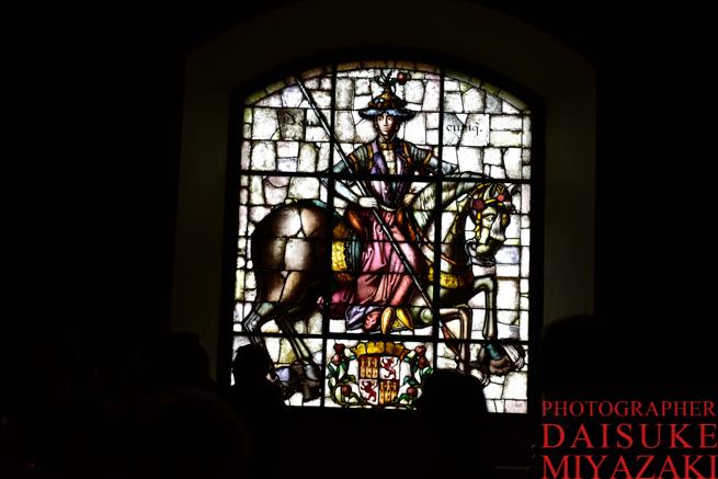 セゴビアの城のステンドグラス