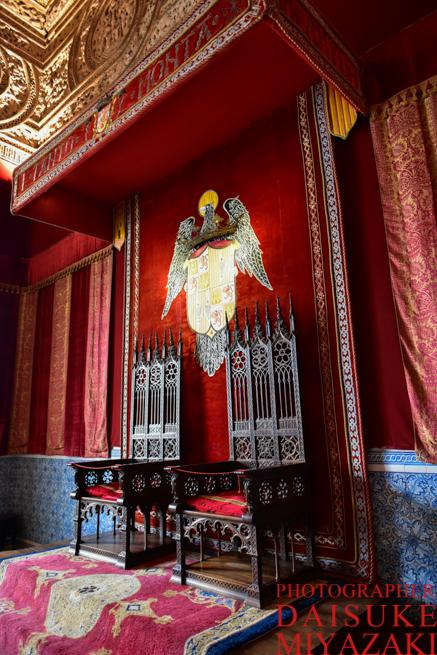 セゴビア城の椅子