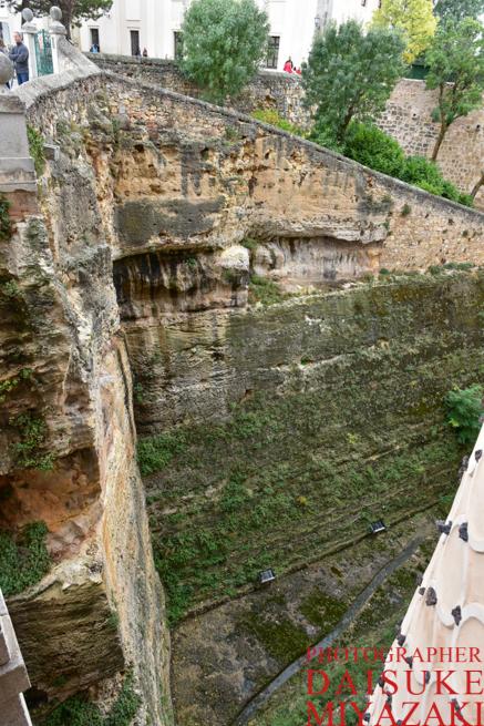 セゴビア城の深い堀
