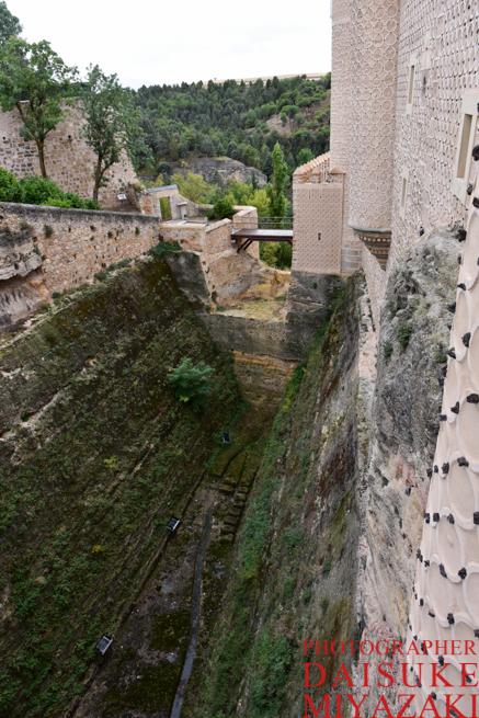 セゴビア城の堀