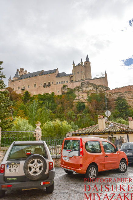 セゴビア城の右下から撮影