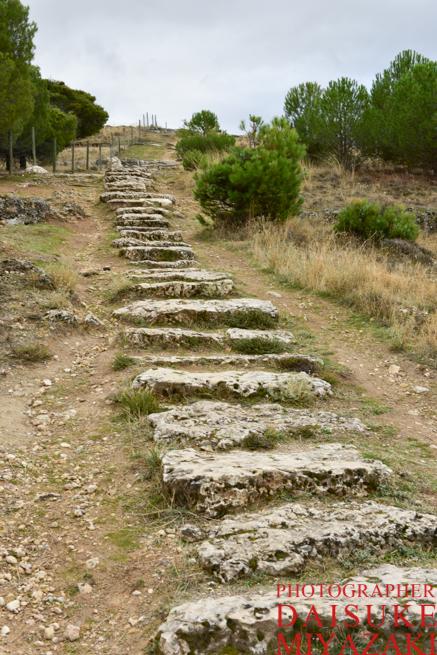 セゴビア城の絶景撮影ポイントへの階段