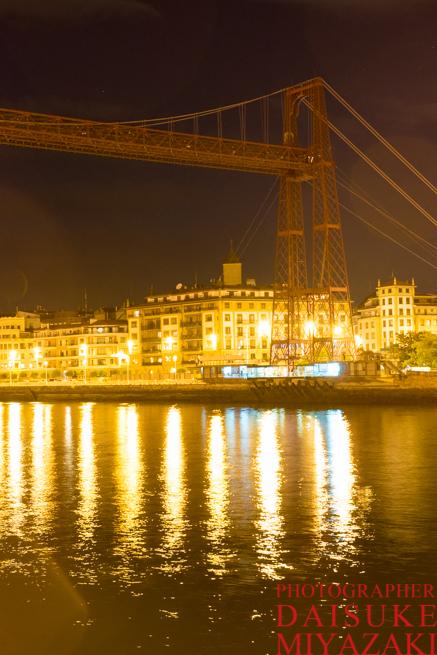 スペインの移動式吊り橋