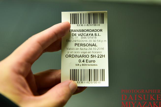 ビスカヤ橋のチケット