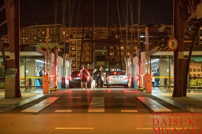 ビスカヤ橋の車の入り口