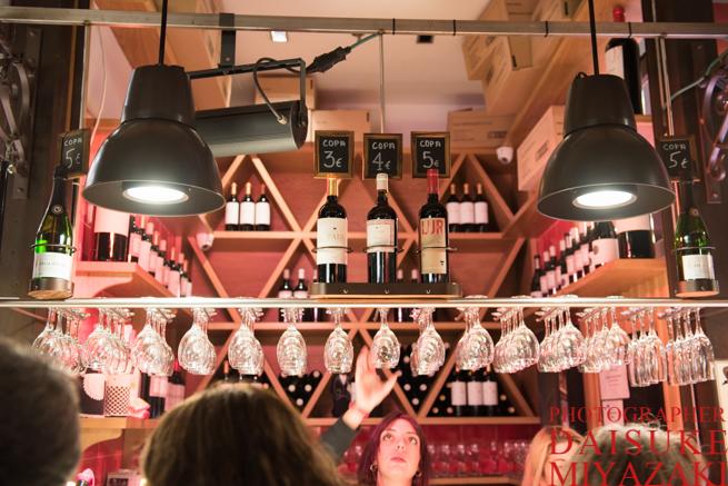 サンミゲル市場のワイン売り場