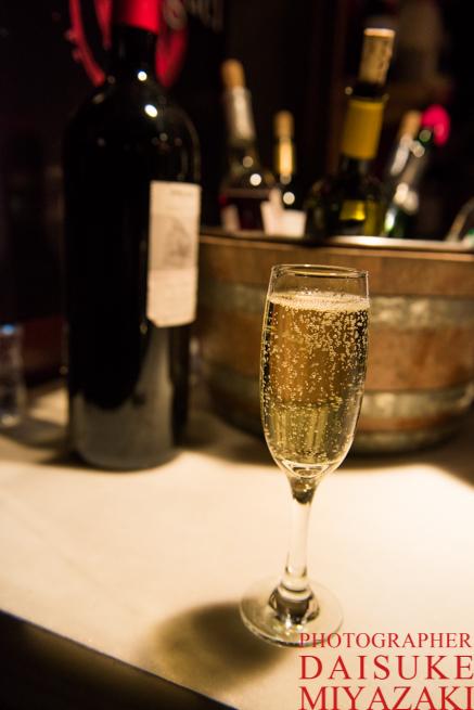 サン・ミゲル市場のスパークリングワイン