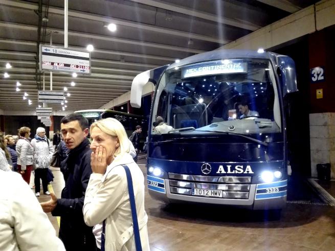 トレドからマドリード行きのバス
