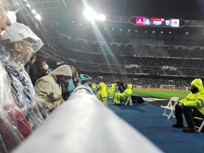 レアルマドリードの試合を観戦