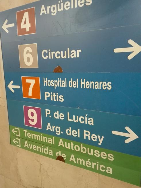 マドリードのバスターミナル併設の地下鉄