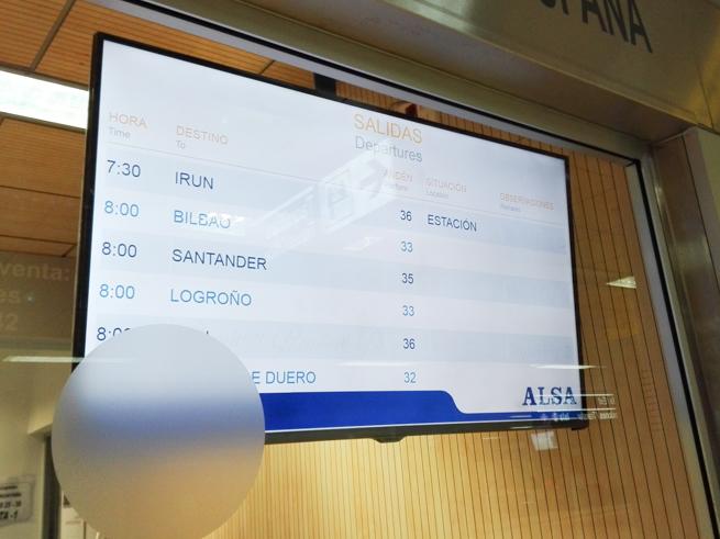 マドリードのバス時刻表