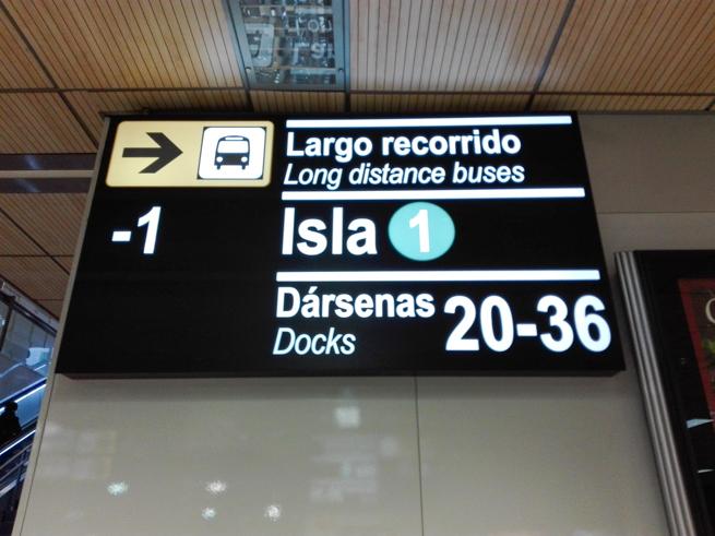 マドリードの長距離バス乗り場