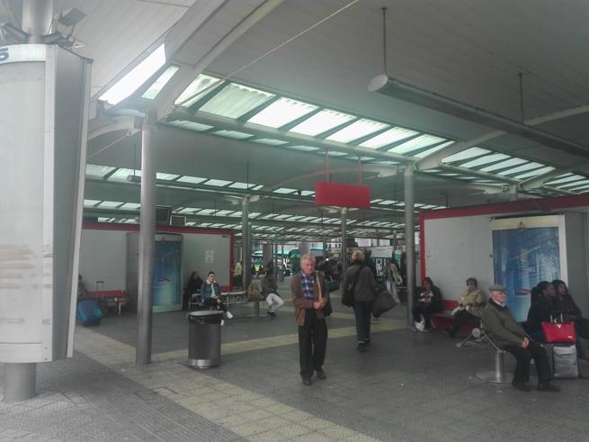 ビルバオのバスターミナル