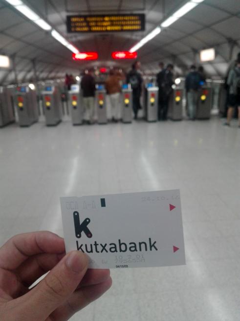 ビルバオの地下鉄チケット