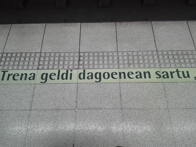 ビルバオのバスク文字
