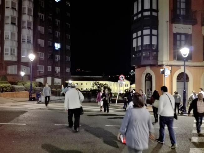 ビルバオの夜道