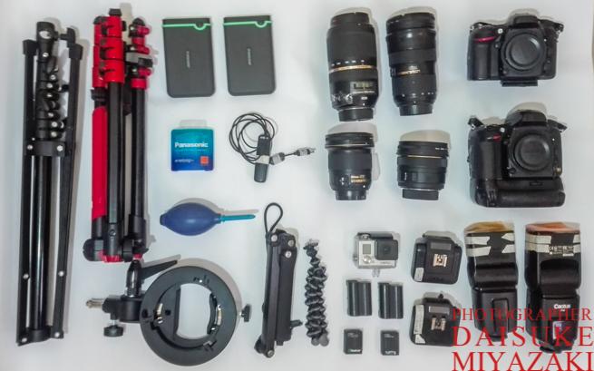 海外旅行トラベルフォトグラファーが使用するカメラ機材リスト(一眼レフ、レンズ、ストロボ、Cactus、三脚、カメラバッグ)