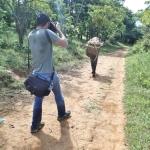 19回目の農村滞在にJICAのカメラマンも同行し、学校菜園と家庭菜園と焼畑稲作の調査をした。