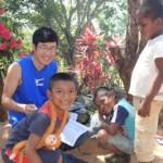 青年海外協力隊・野菜栽培隊員も改良かまどを普及し、焼畑農業する。